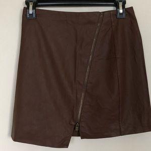 Hollister Faux Leather Mini  Skirt